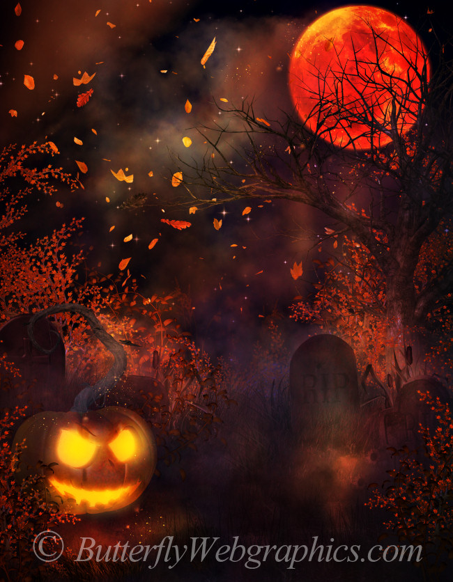 Hautning Halloween Backgrounds in the PNG format