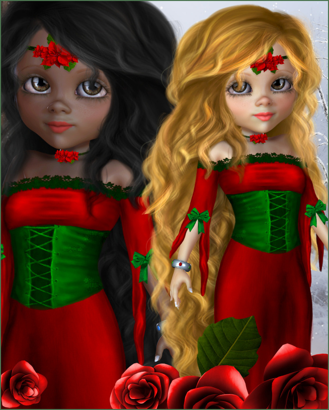 Lady Rose Christmas Graphics