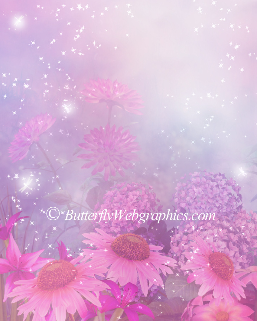 Lady Rose Romantic Floral Background Graphics