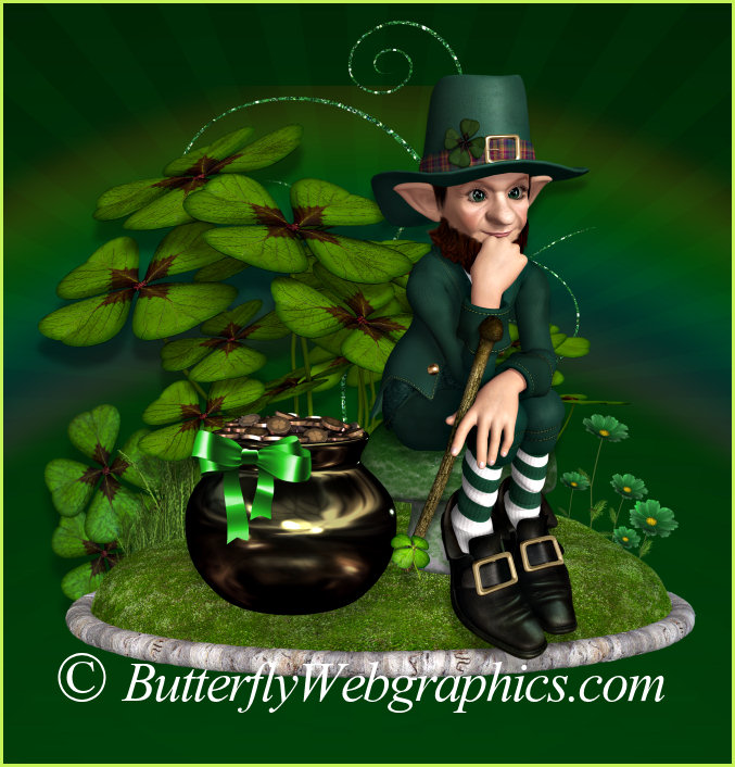 Leprechaun Gold Graphics for Saint Patrick's Day and Irish designs.