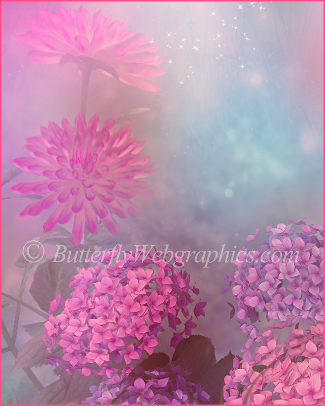 Romantic Floral Background Graphics