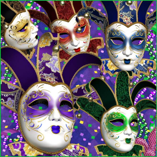 Royal Mardi Gras Masks Graphics