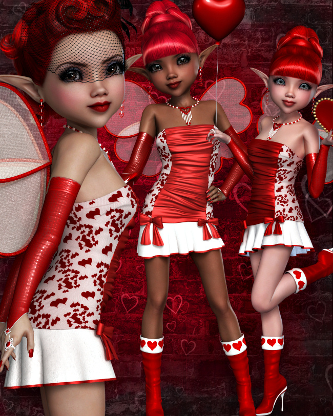 Sweetheart Valentine Fairy Graphics