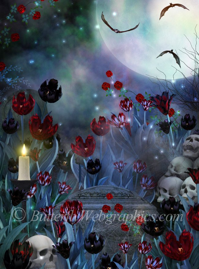Goth Vampire Background Graphics in the PNG format