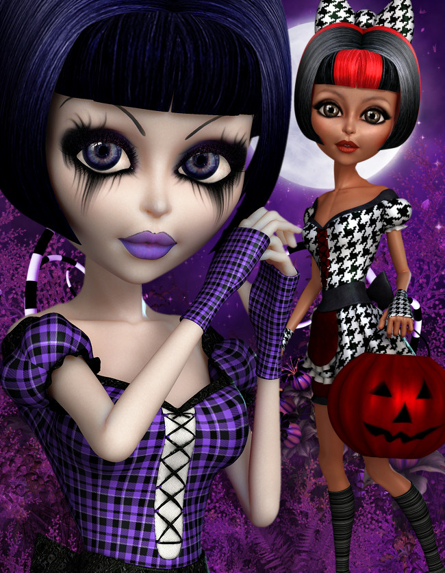 Wicked Halloween Goth Graphics in the PNG format