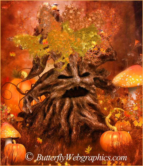 Autumn Tree Spirit Graphics