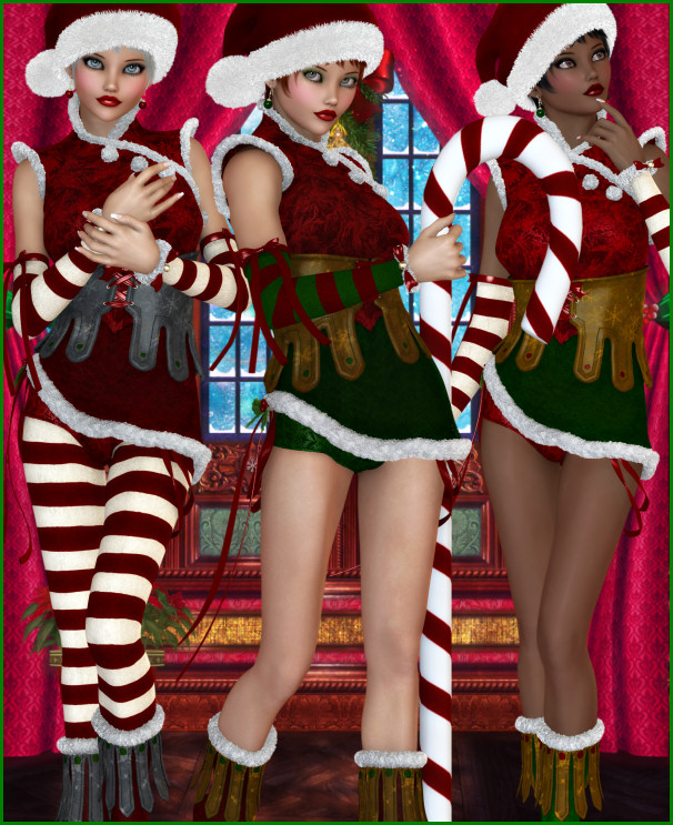 Beautiful Christmas Elf Graphics