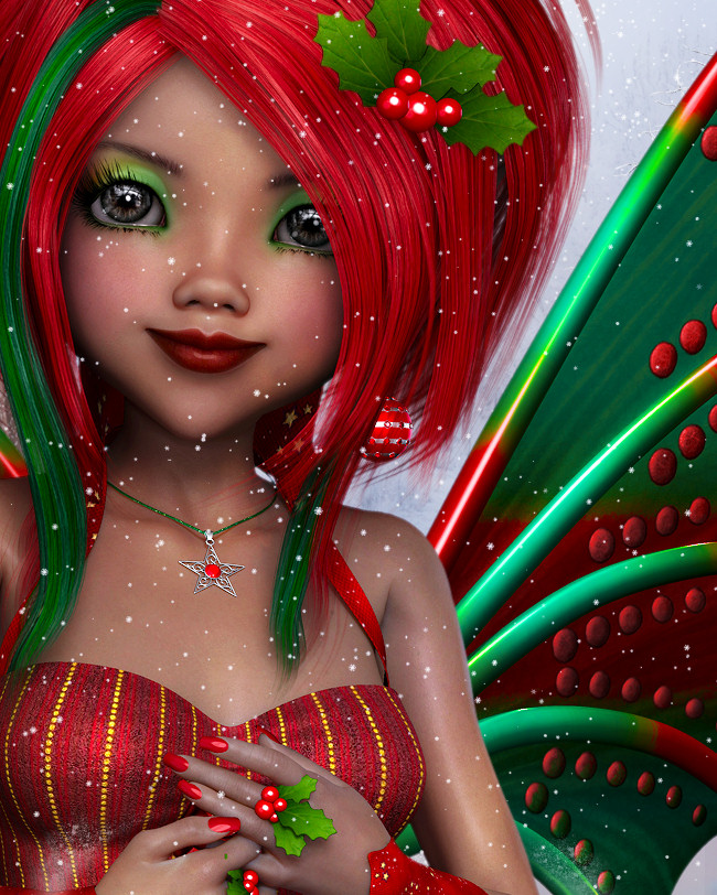 Candy Cane Christmas Fairy Graphics