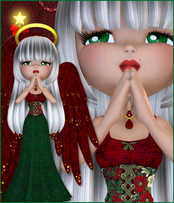 Cute Christmas Cookie Angel Character Tubes