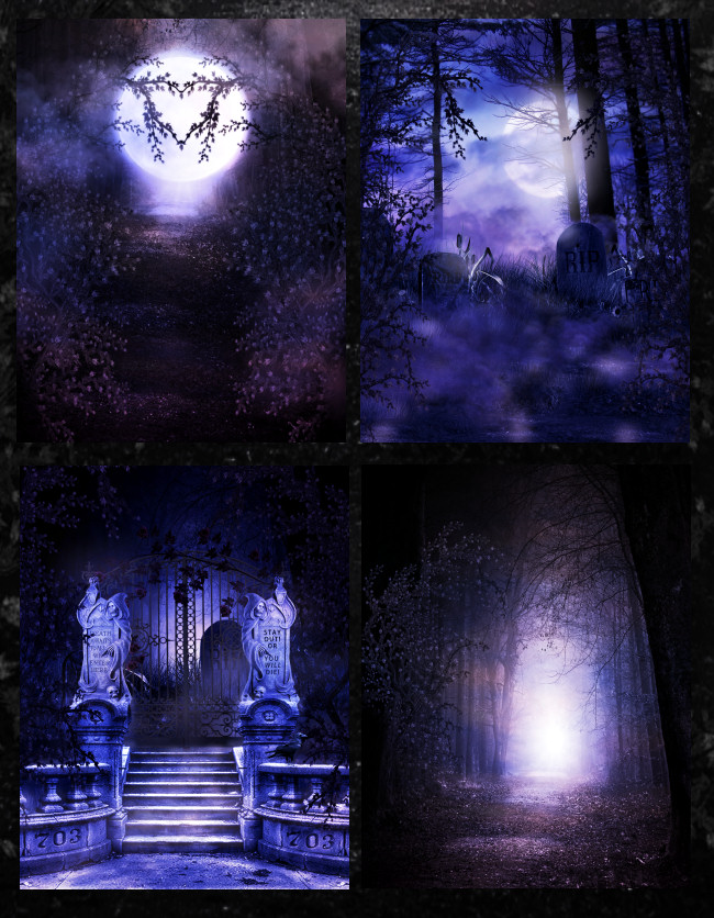 Dark Goth Horror Background Graphics in the PNG format for commercial use