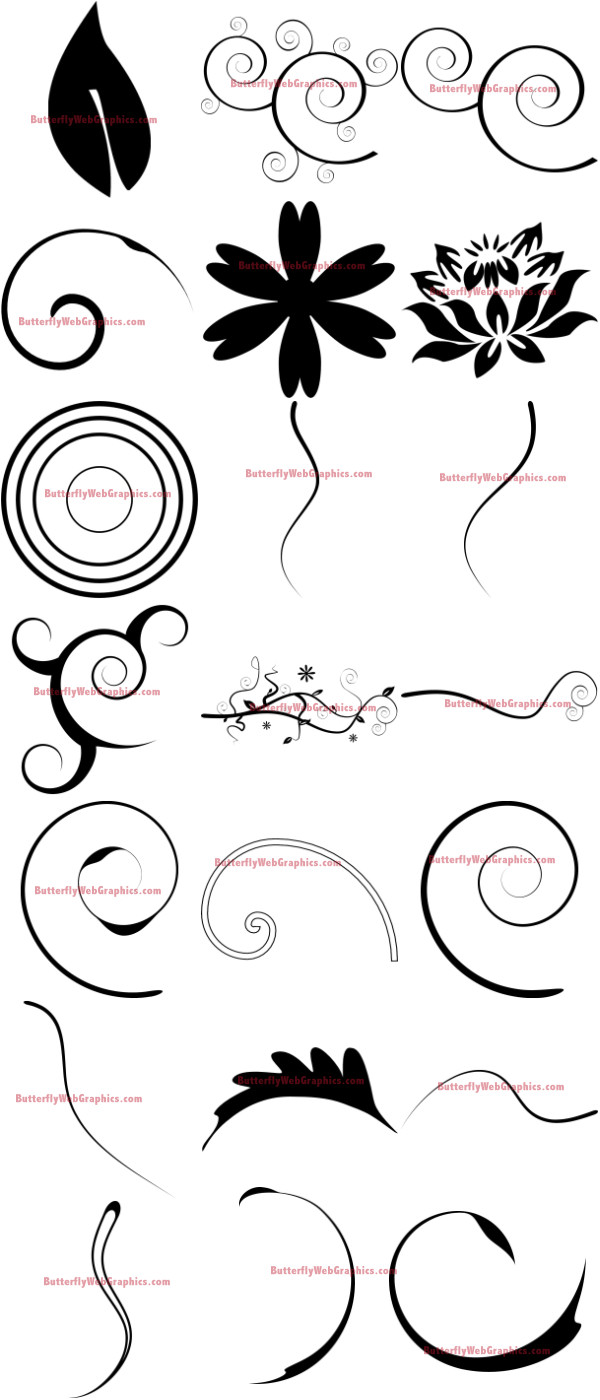 Floral Swirl Graphics
