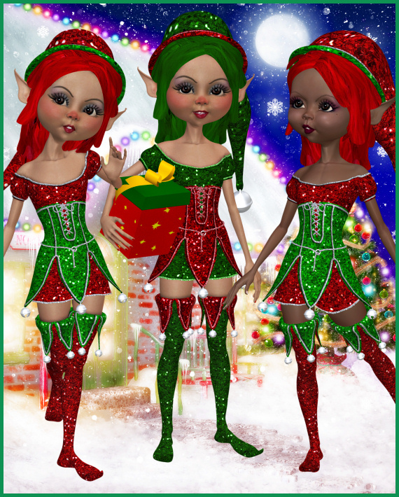 Glitter Elf Graphics