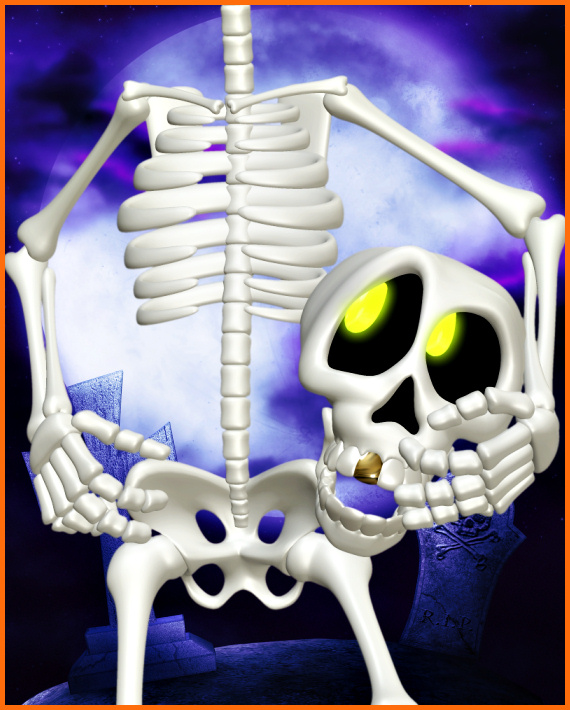 Grim skeleton graphics Halloween tubes