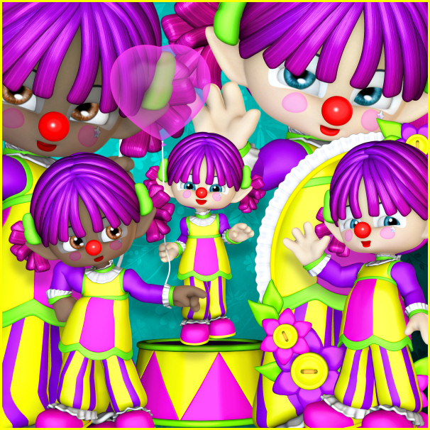 Happy Clown Tubes for birthdays and special occasions