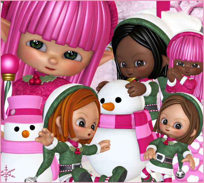 Jingle Girl Elf Graphics