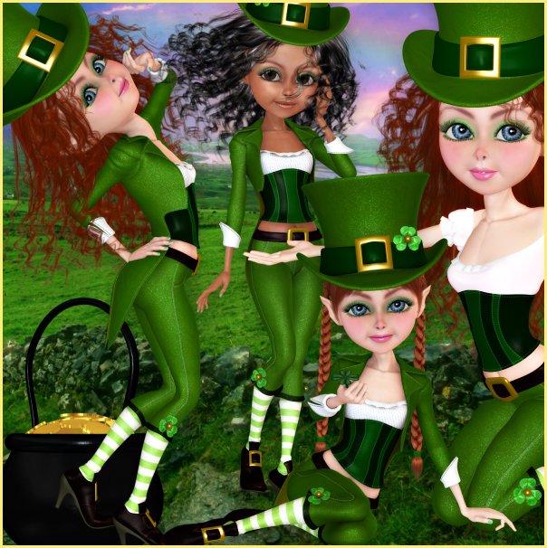 Lovely Leprechaun Graphics