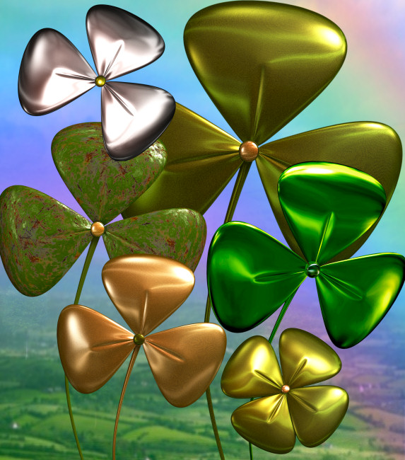 Metallic Shamrock Graphics