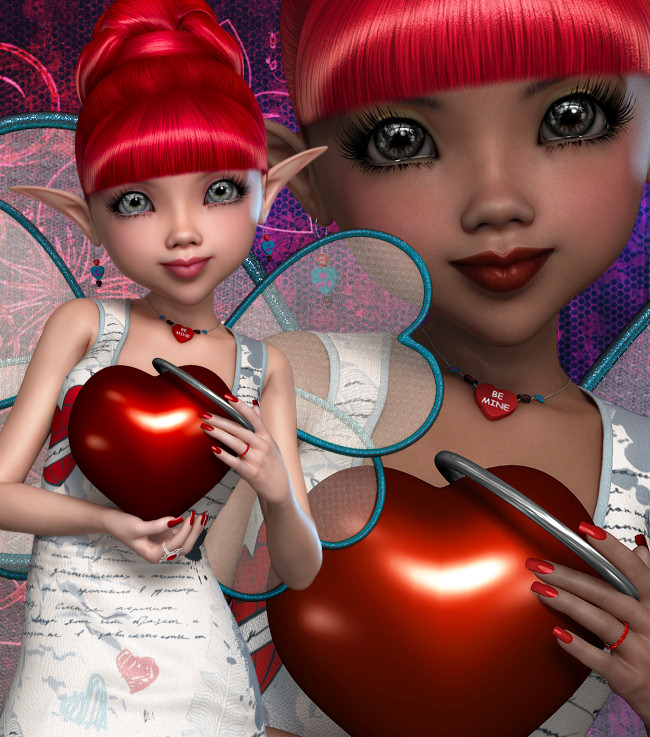 Modern Valentine Fairy Graphics