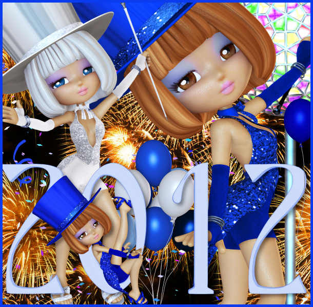 New Year Glitter Girl Graphics