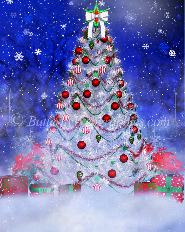 O Christmas Tree Background Graphics
