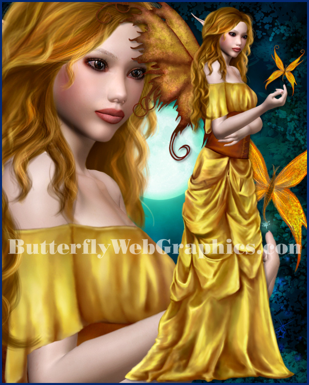Painted Fairies 2 Fantasy Graphics for your designs