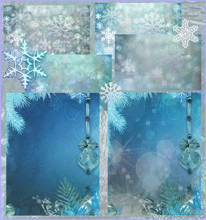 Snowflake tubes and winter backgrounds
