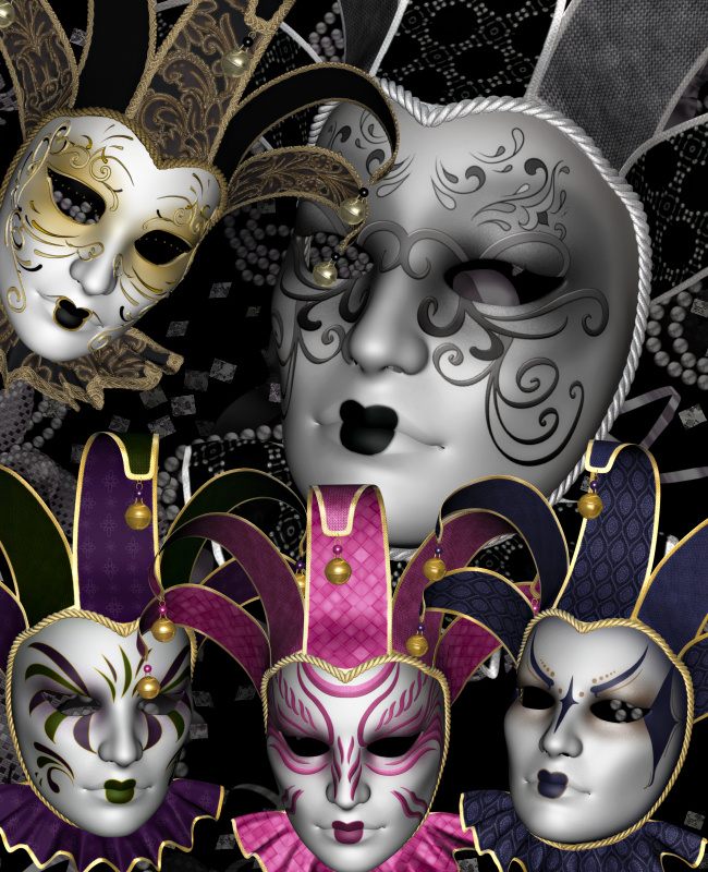 Venetian Mardi Gras Mask Graphics