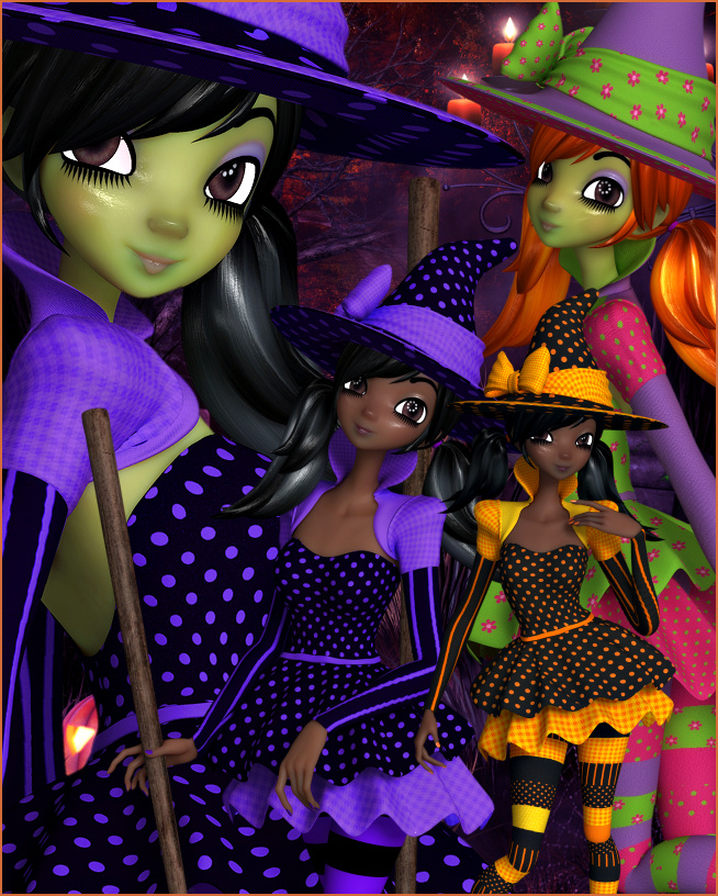 Witchy Night Graphics
