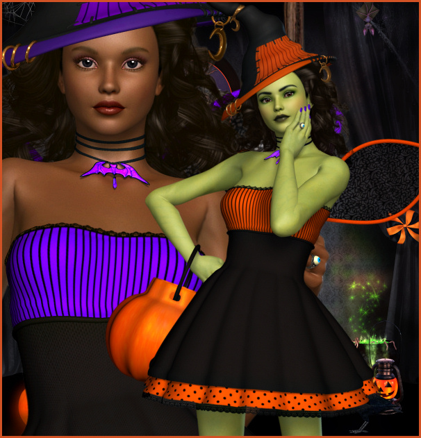Witchy Halloween Graphics
