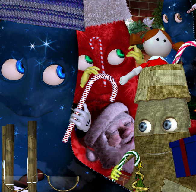 Zany Holiday Stocking Graphics