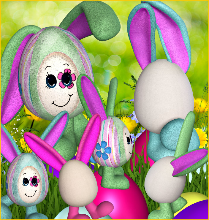 Sunny Bunny Easter Graphics