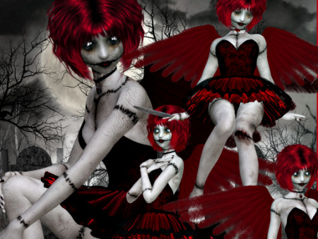 Scary Goth Doll Tubes