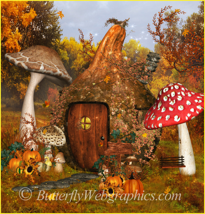 Autumn Fae House Graphics