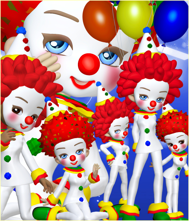 Birthday Clown Graphics