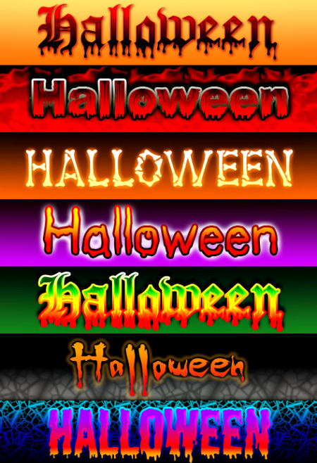 Halloween Text Graphics