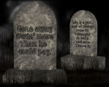 Real Epitaph Headstone Graphics