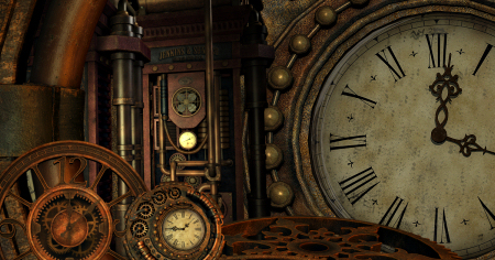 Lost In Time Steampunk Graphics