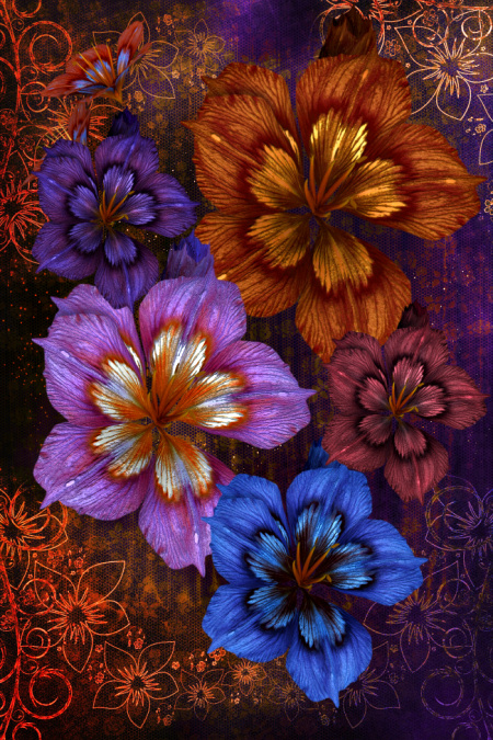 Autumn Flower Graphics