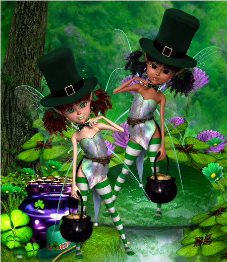 Zany St. Pat's Fairies