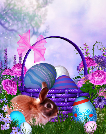 Happy Easter Backgrounds and Tubes