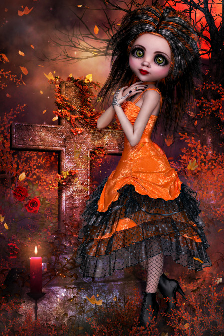 Classy Goth Doll Graphics