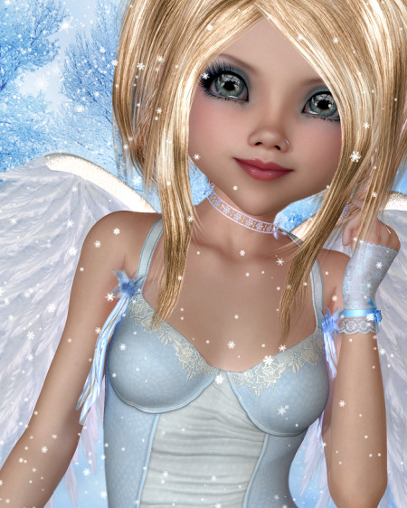 Christmas Blessing Angel Graphics