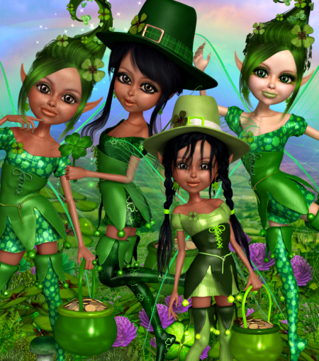 Lucky Leprechaun Fairy Graphics