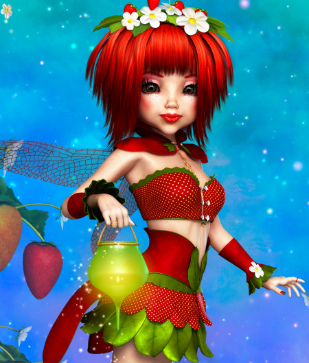 Strawberry Fairy Graphics